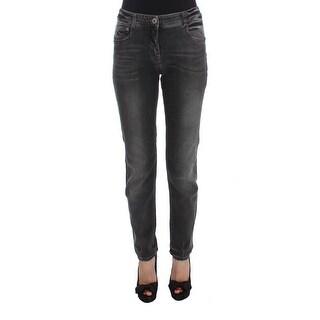 Ermanno Scervino Ermanno Scervino Gray Wash Cotton Blend Stretch Jeans