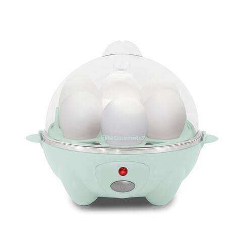 Elite Gourmet Easy Egg Cooker Mint Blue EGC007M