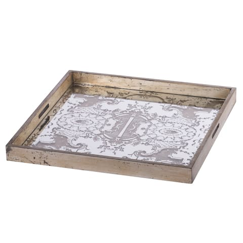 A&B Home Idony Champagne Classic Mirrored Tray