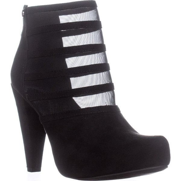 G by Guess Talza Striped Boots, Black - 8.5 us