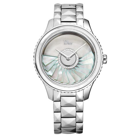 Christian Dior Women's CD153B11M001 'Grand Bal' Mother of Pearl Diamond Dial Swiss Automatic Watch