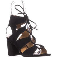 Report Edolie Block Heel Gladiator Sandals, Black - 8.5 us