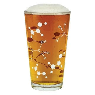 Barbuzzo Chemist Approved Beer Pint Glass, 16 Oz, Clear
