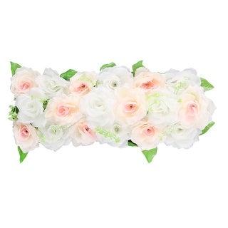 Wedding Party Fabric DIY Wall Arch Hanging Artificial Flower Garland Decor Light Orange White