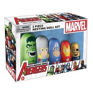 Officially Licensed Collectible Avengers Nesting Dolls - MultiColor