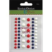Red/White/Blue - Eyelet Outlet Adhesive-Back Enamel Dots 52/Pkg