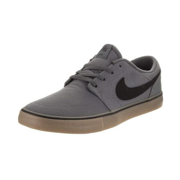 7d5d76e248249 Nike Mens Sb Portmore Ii Solar Cnvs Dk Grey Black Gum Light Brown Size 12