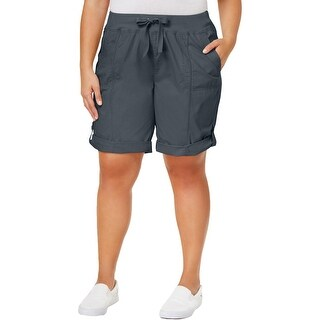 Calvin Klein Womens Plus Cargo Shorts Ribbed Drawstring (2 options available)