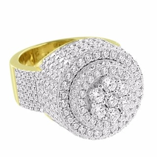 14k Gold Tone Custom Pinky Ring Solitaire Lab Diamond Sterling Silver