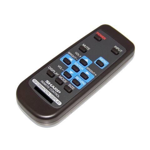 OEM Sharp Remote Control Shipped With PNR703, PN-R703, PNR903, PN-R903