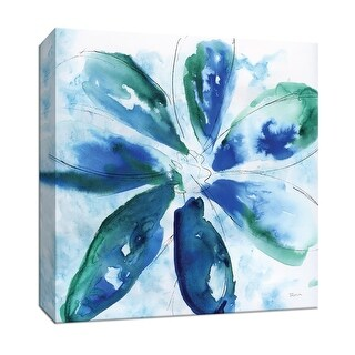 """PTM Images 9-147825  PTM Canvas Collection 12"""" x 12"""" - """"Be Bold Blue I"""" Giclee Flowers Art Print on Canvas"""