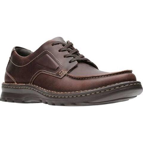 Clarks Men's Vanek Apron Oxford Brown Oily Full Grain Leather