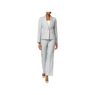 Le Suit Womens Pant Suit 2PC Shawl Collar