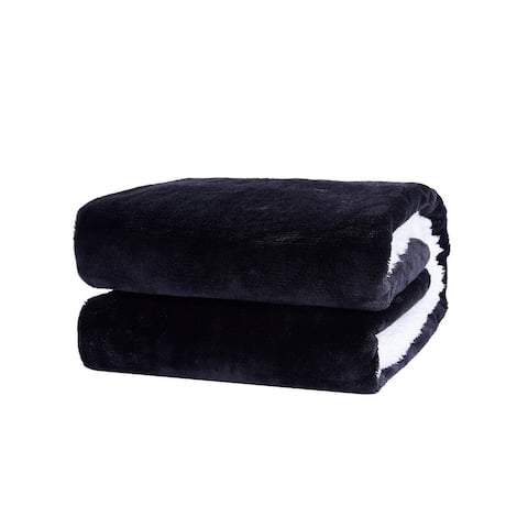 "Richie House Waterproof Soft Warm Comfortable Pet Throw Blanket - Black - 30""*40"""