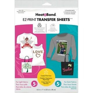 "Heat'n Bond EZ Print Transfer Sheet Combo -8.5""X11"" 10/Pkg"