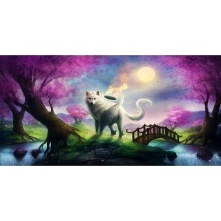 Marmont Hill Okami Painting Print on Canvas