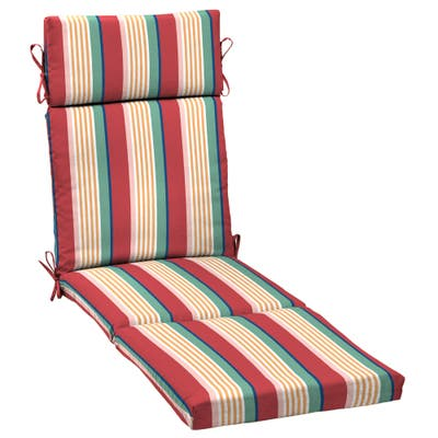 Arden Selections Keeley Stripe Outdoor Chaise Lounge Cushion - 72 in L x 21 in W x 3 in H