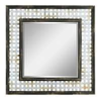 Aspire Home Accents 5704 Bergen Square Farmhouse Wall Mirror - Black
