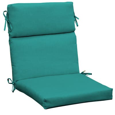 Arden Selections Surf Canvas Texture Outdoor Cartridge Chair Cushion - 44 in L x 21 in W x 4.5 in H
