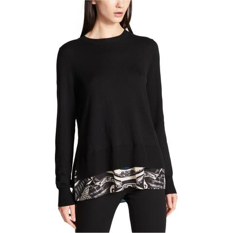 Dkny Womens Layered Look Pullover Sweater