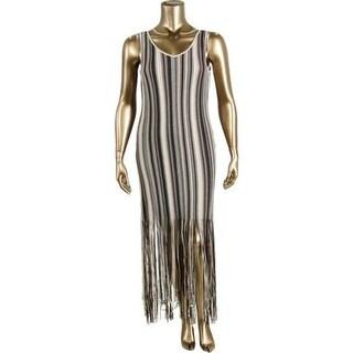 Nic + Zoe Womens Tank Dress Linen Fringe
