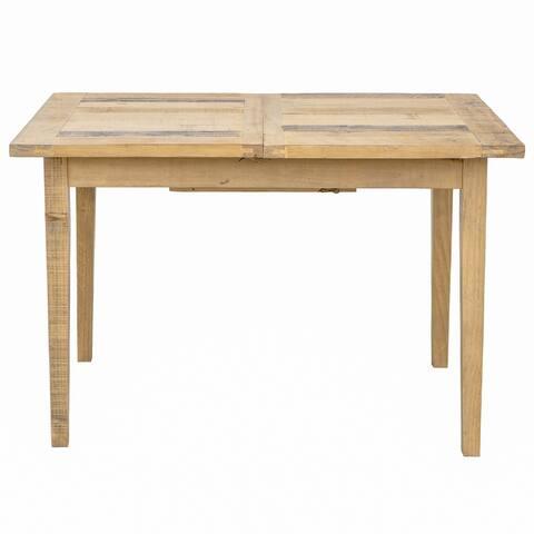 "Ashford 62"" Reclaimed Wood Rectangular Extension Dining Table"