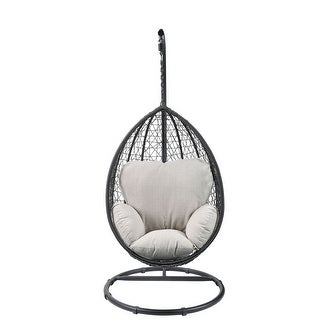 Wicker Patio Swing Chair with Stand