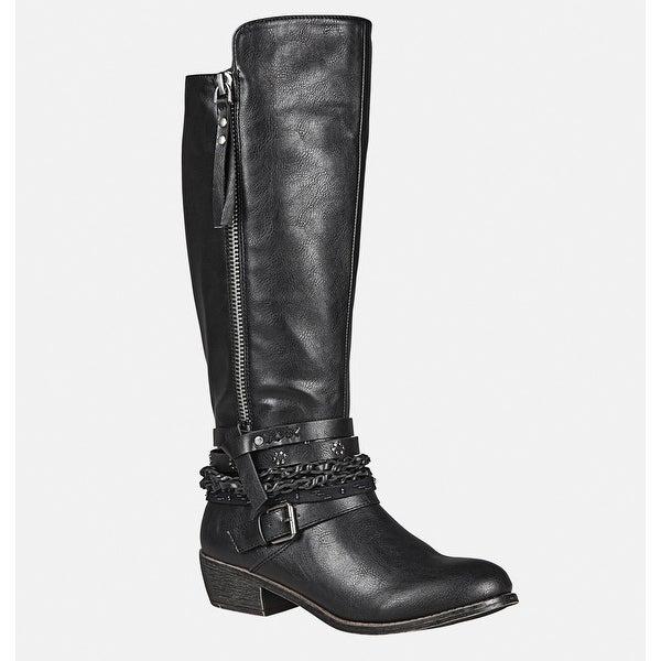 88a7d0fdc78 Shop AVENUE Women's Gemma Embellished Rider Boot - Black - 10W ...