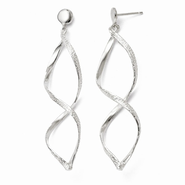 Sterling Silver Polished Post Dangle Earrings