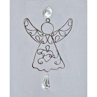 """Set of 4 Antique Style Egyptian Hand Crafted Wire Angel Christmas Ornament 5.75"""""""