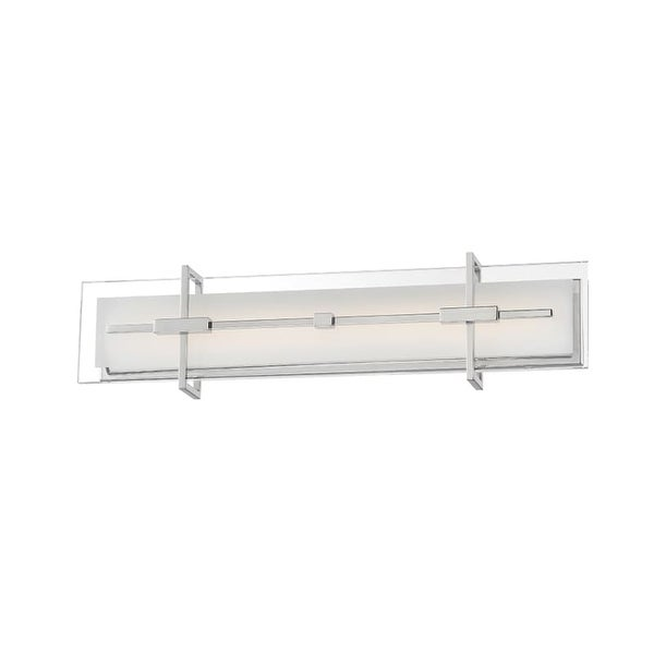Modern Forms WS-46527 Seismic 1 Light LED ADA Compliant Bathroom Bath Bar - 27 Inches Wide