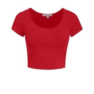 Link to NE PEOPLE Women's Short Sleeve Crop Top [NEWT199] Similar Items in Intimates