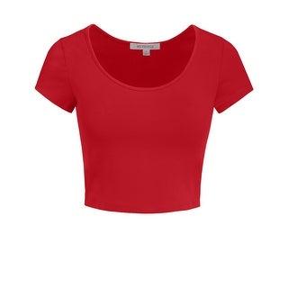 NE PEOPLE Women's Short Sleeve Crop Top [NEWT199]