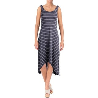 Marc New York by Andrew Marc Womens Performance Dress Maxi Striped