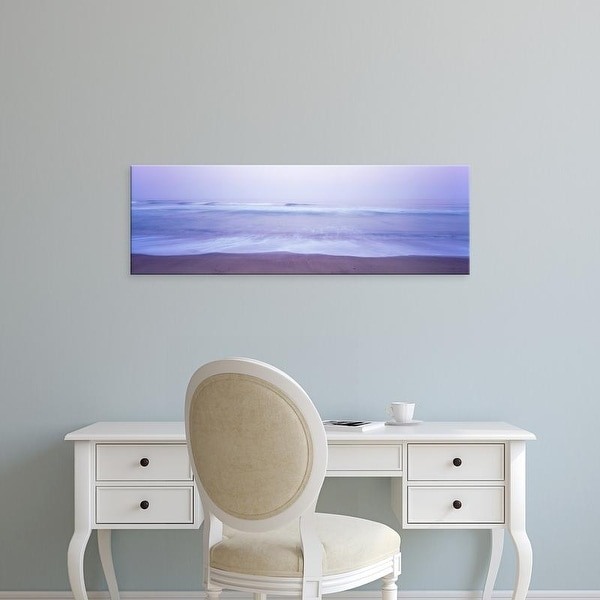 Easy Art Prints Panoramic Image 'Surf on the beach at dawn, Point Arena, Mendocino County, California' Canvas Art
