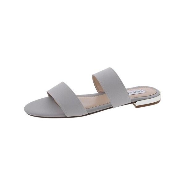 Steve Madden Womens Shirley Flat Sandals Open Toe Double Strap