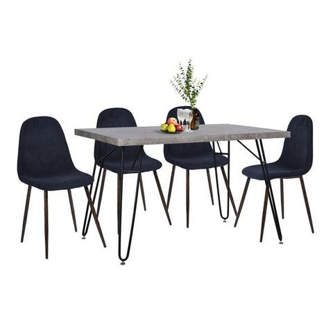 FurnitureR 5 Piece Mid-Century Modern Dining Set