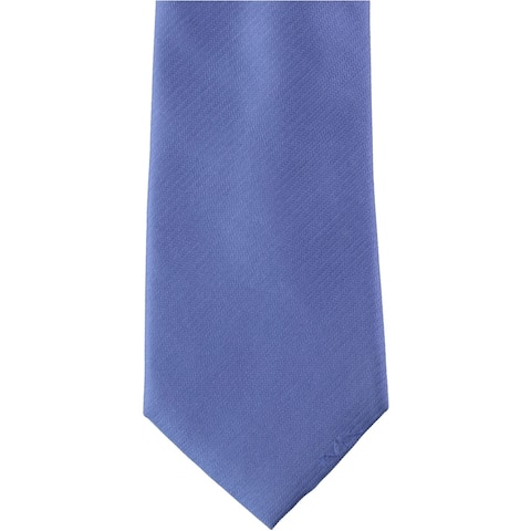 Michael Kors Mens Solid Silk Self-tied Necktie, blue, One Size - One Size