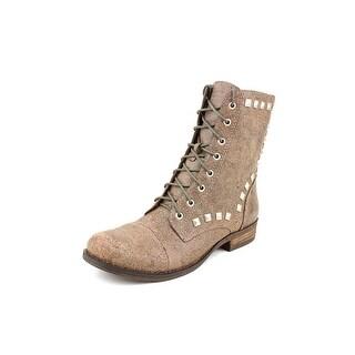 BCBGeneration Varik Women Round Toe Leather Ankle Boot