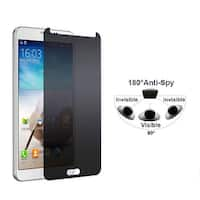Privacy Glass Tempered Glass for Samsung Note 4 - black