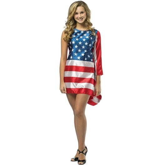 306ebc135895 Shop Rasta Imposta USA Flag Dress Teen Costume - Solid - Free Shipping On  Orders Over $45 - Overstock - 17810686