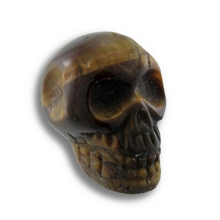Beautiful Carved Tiger Eye Gemstone Skull 25mm 1 Inch