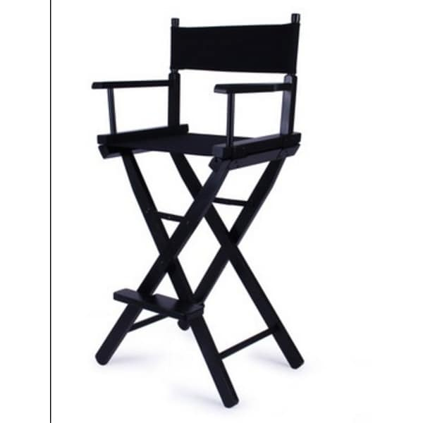 Makeup Artist Tall Director Chair Wood Folding With Side Bag Camping Fishing