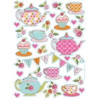 "Club Pack of 96 ""Tea Time"" Value Stickers - Multi"