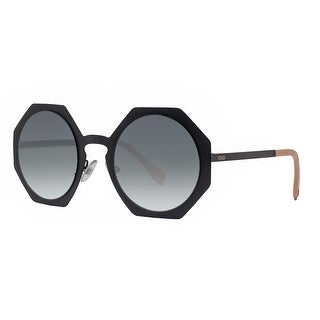 Fendi FF 0152/S 003 JJ Facets Matte Black Grey Gradient Geometric Sunglasses - MATTE BLACK - 51mm-24mm-145mm