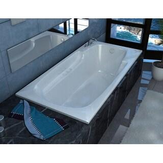 "Avano AV4272EAR Aruba 71"" Acrylic Air Bathtub for Drop-In Installations with Right Drain - White"