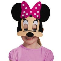 Minnie Mouse Pink Felt Costume Mask
