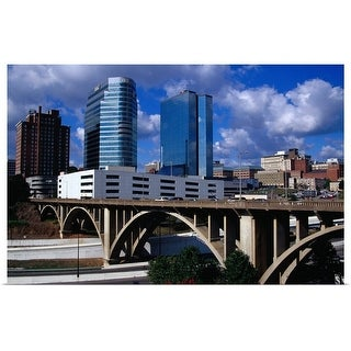 """""""Hill Street Bridge and Knoxville skyline"""" Poster Print"""