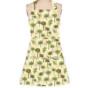 Elegant Tropical Palm Trees Girlie Kitchen Cooking Chef Apron