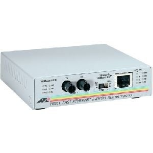 """Allied Telesis AT-FS201-90 Allied Telesis AT-FS201 Fast Ethernet Media Converter - 1 x RJ-45 , 1 x ST Duplex - 10/100Base-TX,"